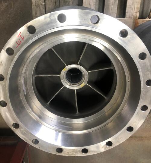 vertical turbine impeller