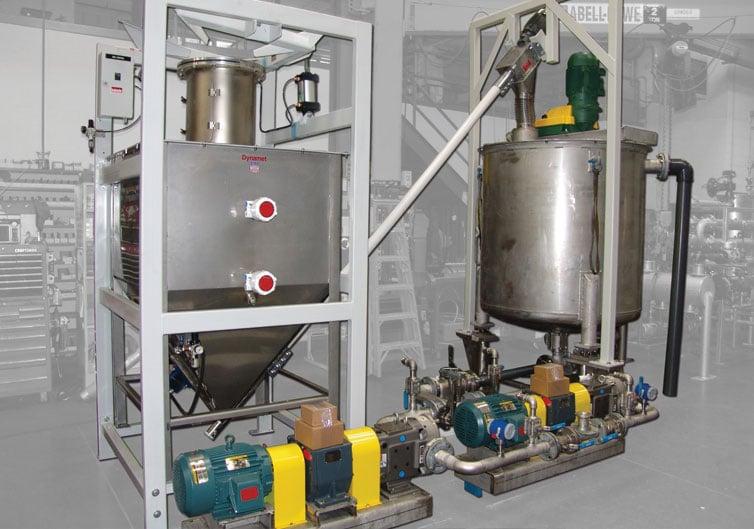Solids Liquids Makedown System