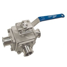 Tru-Flo Multiport Sanitary 3-Way Ball Valve