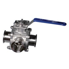 Tru-Flo Sanitary 3-Way Ball Valve