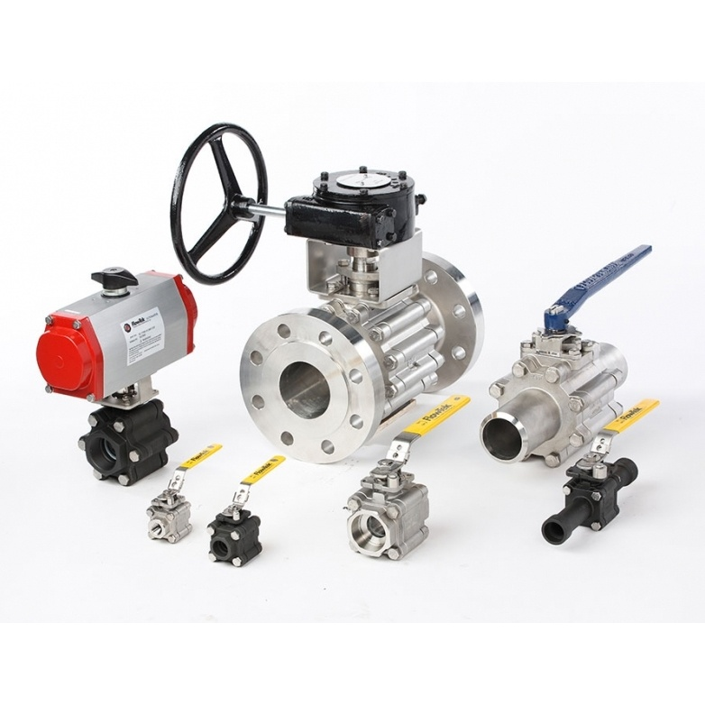Flow-Tek 3-Piece TRIAD Series Ball Valve