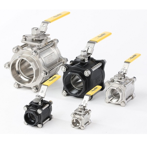 Flowtek 3 Piece Ball Valve Series 7000-8000