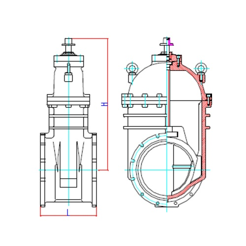 WTR Large Resilient Seated Gate Valve