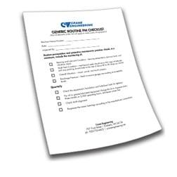 Preventative Maintenance Checklist