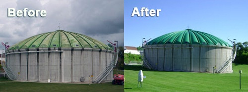 Dome Coating - Before vs. After