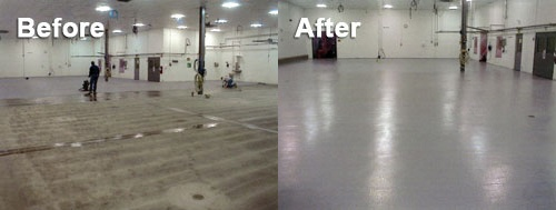 Floor Coating - Before vs. After