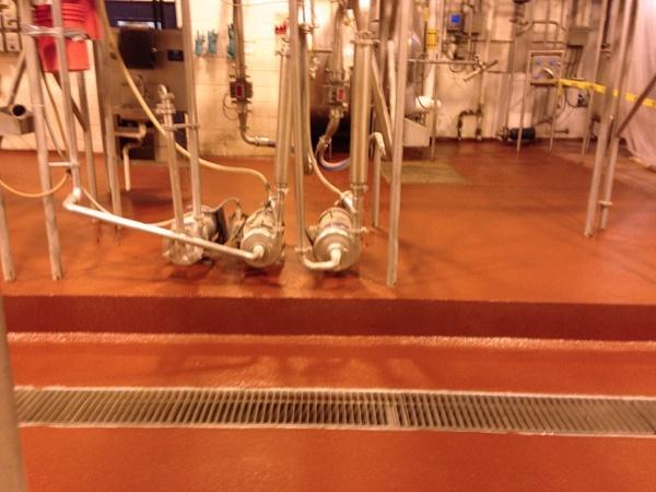 Dairy Transfer Area Floor Coating