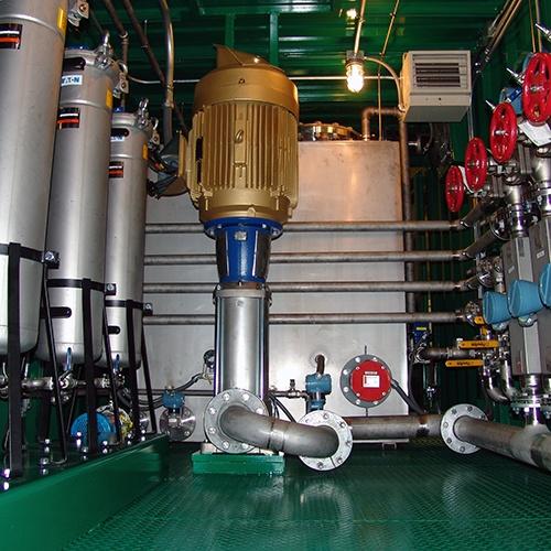 OptiFlow TurboFlush Container Flushing Skid System